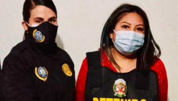 La detenida Edith Endara Ortiz fue detenida como presunta integrante de una banda de 'marcas', según la Policía. (Foto: PNP)