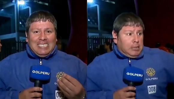 ¡El susto de su vida! Reportero de GOLPERÚ se asusta en vivo por el pase de los caballos previo al Perú vs. Uruguay