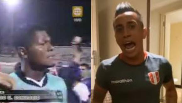 Christian Cueva se animó a imitar a 'Chiquito' Flores en la concentración de la selección peruana.