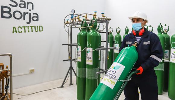 Más 100 mil vecinos del distrito de San Borja se verán beneficiados con la nueva planta de oxígeno. (Foto: Municipalidad de San Borja)