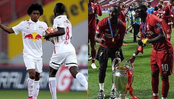 Yordy Reyna felicita a Sadio Mané y Naby Keita tras ganar la Champions League | FOTOS