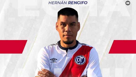 Hernán Rengifo jugará en Deportivo Municipal. (Foto: Deportivo Municipal)