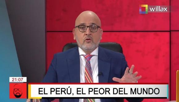 El periodista Beto Ortiz se pronunció sobre la situación de la pandemia de coronavirus en el Perú.