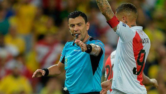 Roberto Tobar dirigió la final de la Copa América entre Perú vs. Brasil. (Foto. AFP)