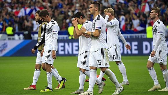 Alemania cayó ante Francia y logra el peor año de toda su historia