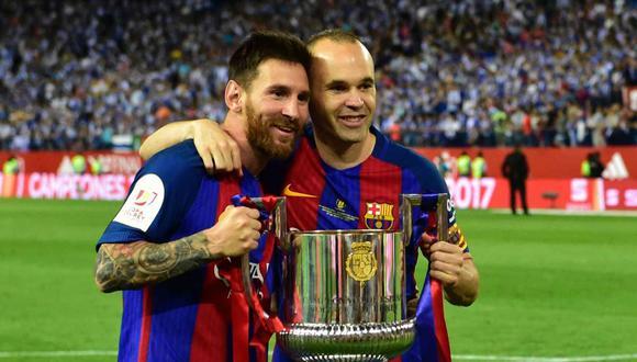 Lionel Messi ganó todo con el Barcelona al lado de Andrés Iniesta.
