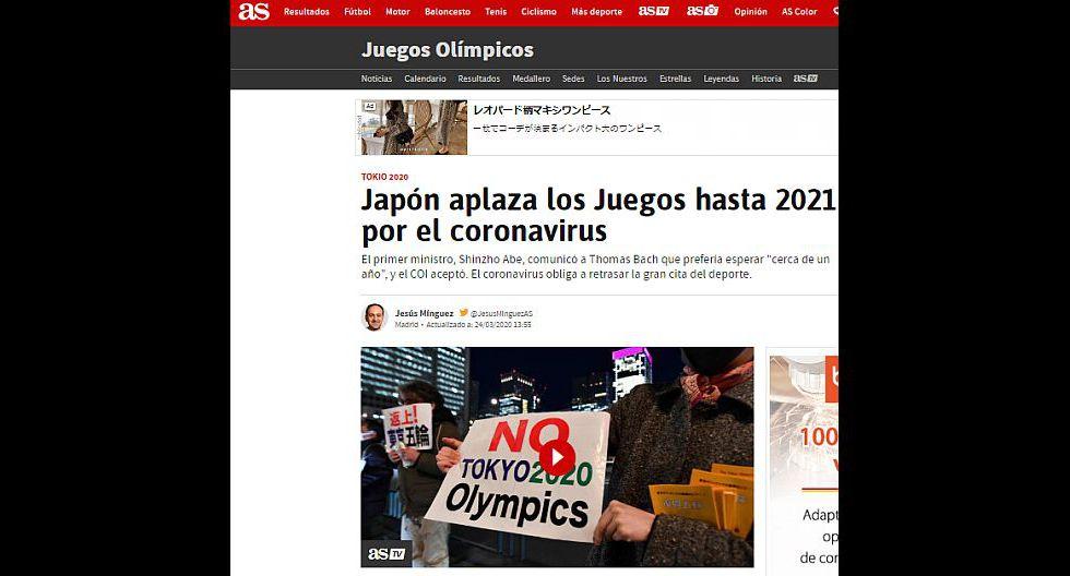 Así informó el mundo sobre el aplazamiento de Tokio 2020.