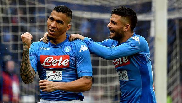 Napoli ganó y se mantiene en la cima de la Serie A