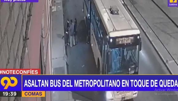 El asalto al bus del Metropolitano se perpetró en pleno toque de queda. (Latina)