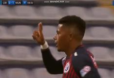 Sporting Cristal vs. Municipal: Erinson Ramírez anotó un golazo para el 1-0   VIDEO