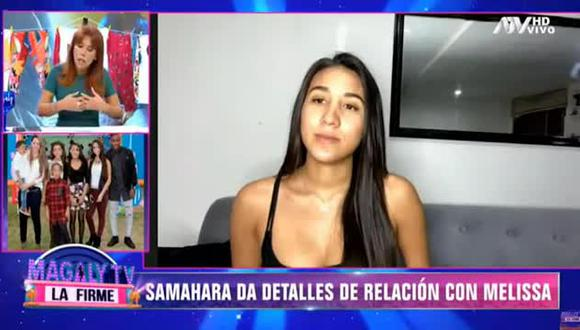 Samahara Lobatón recordó la difícil etapa que vivió tras la separación de Jefferson Farfán y Melissa Klug. (Foto: Captura de video)