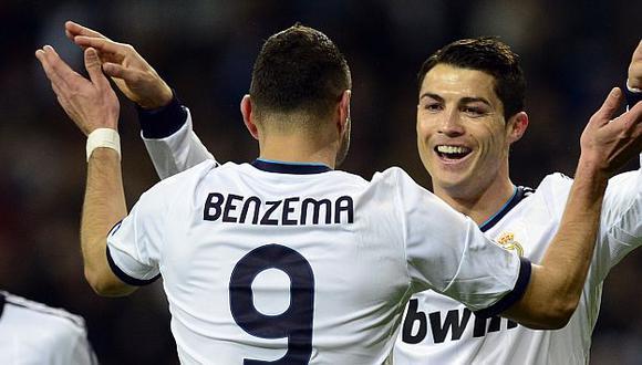 El consejo de Cristiano Ronaldo que cambió a Karim Benzema. (Foto: AFP)