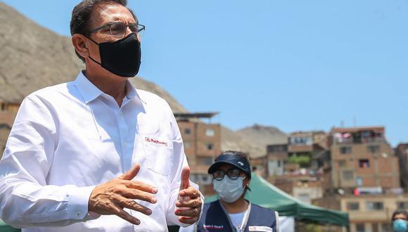 Martín Vizcarra señala que dependerá de nuestro comportamiento y del sistema de salud para estar preparados ante un ligero rebrote de COVID-19.  (Foto: Presidencia de la República)