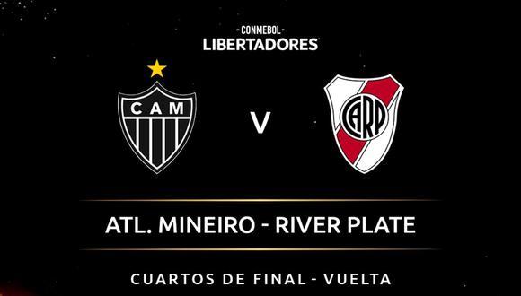 River Plate vs. Atlético Mineiro EN VIVO | ONLINE | EN DIRECTO el partido de vuelta de los cuartos de final de la Copa Libertadores en el estadio Mineirao