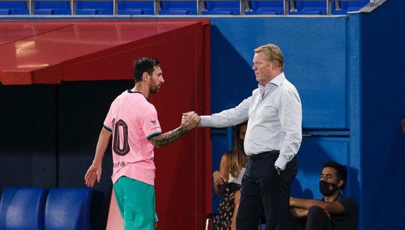 Ligas Extranjeras: Lionel Messi y Ronald Koeman: apretón de manos para  llenar de confianz | NOTICIAS EL BOCÓN PERÚ
