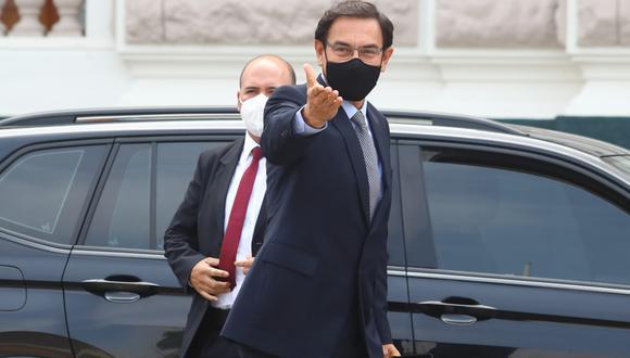 El expresidente Martín Vizcarra cuestionó el informe de la Comisión de Fiscalización. (Foto: Alessandro Currarino / @photo.gec)