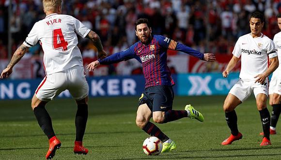 El increíble gol de Lionel Messi de volea ante el Sevilla [VIDEO]