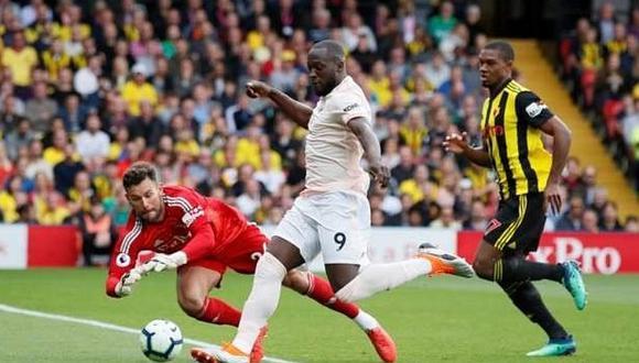 ¿Con qué parte de su cuerpo anotó Romelu Lukaku el 1-0 ante Watford?