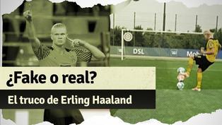 Erling Haaland y toda su habilidad con el balón en video viral