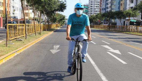 Propone retorno de actividades recreativas en carril central de la avenida Brasil tras levantamiento de inmovilización obligatoria los domingos. (Foto: Municipalidad de Magdalena)
