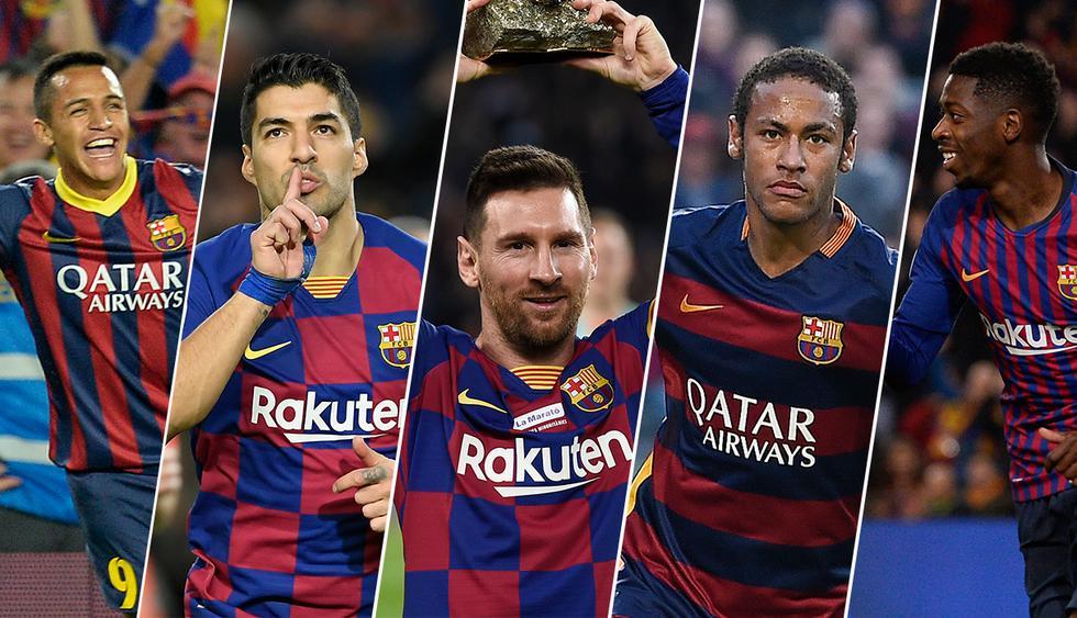Cuatro sudamericanos están en la lista final para elegir el mejor gol de la década anotado por Barcelona. (Fotos: AFP)