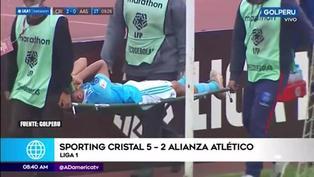 Liga 1: Martín Távara sufrió grave lesión en el Sporting Cristal vs. Alianza Atlético