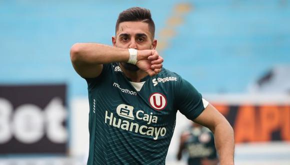 Luis Urruti tiene dos goles en la temporada 2021 con Universitario. (Foto: Universitario de Deportes)