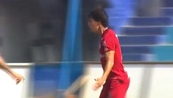 Universitario vs. Coopsol   Rafael Guarderas anota golazo con la coja para el primero de los cremas   VIDEO