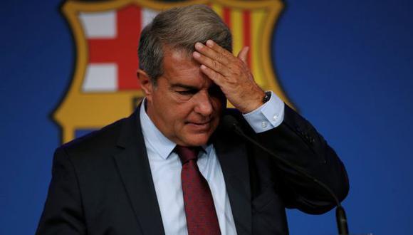Joan Laporta se pronuncia tras la derrota de Barcelona. (Foto: EFE)