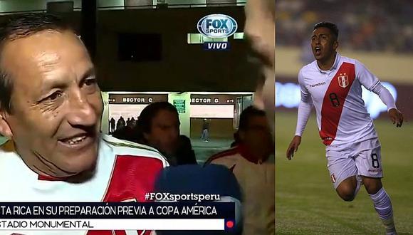 Selección peruana: periodista de Fox Sports y el blooper en vivo tras no reconocer al papá de Christian Cueva | VIDEO