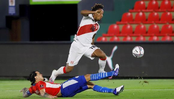 André Carrillo anotó un doblete ante Paraguay por las Eliminatorias rumbo a Qatar 2022. (Foto: EFE)