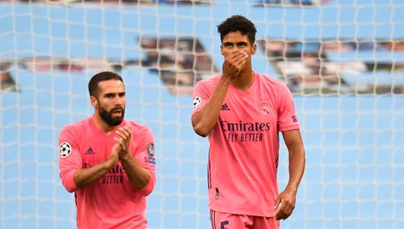 Real Madrid fue eliminado por el Manchester City de la Champions League. Varane falló dos veces y los merengues se van de la competición europea. FOTO: AFP