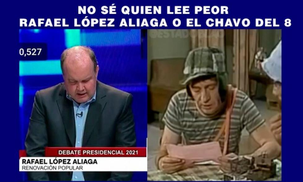 Debate presidencial final: memes apuntan a Rafael López Aliaga
