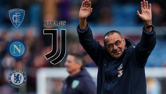 Maurizio Sarri llegó a un acuerdo para ser el DT de la Juventus de Cristiano Ronaldo