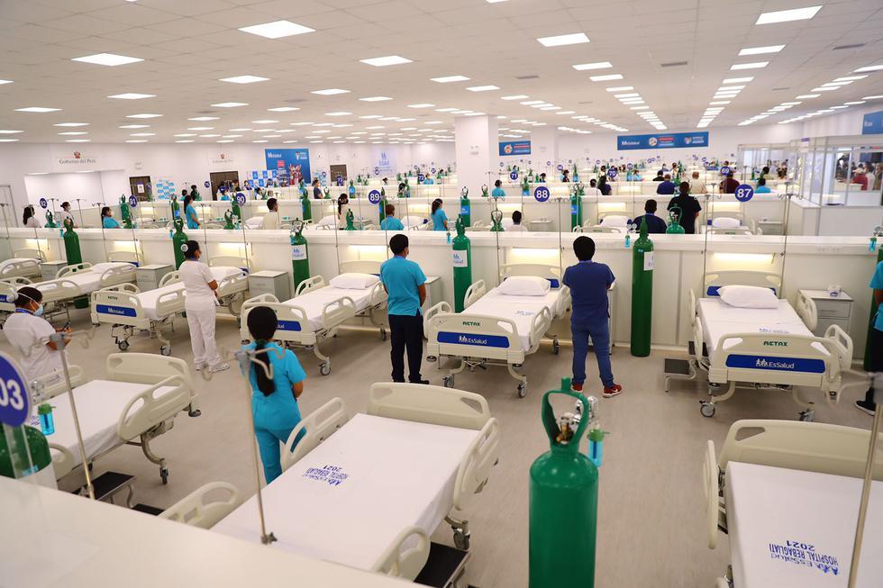 Hoy se inauguró el nuevo Centro de Atención y Aislamiento Temporal, implementado por el Seguros Social de Salud (Essalud), situado en la explanada del Hospital Nacional Edgardo Rebagliati, en Jesús María. (Foto: Hugo Curotto/GEC)