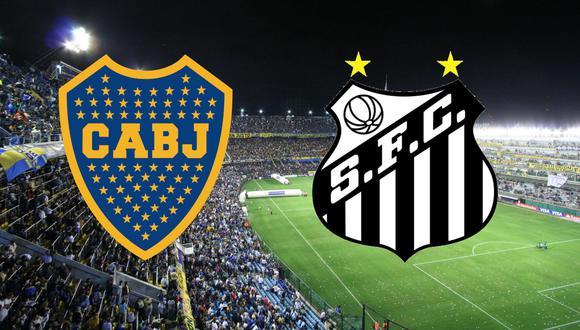 """Boca Juniors y Santos juegan este martes en """"La Bombonera"""" por la segunda fecha del grupo C de la Copa Libertadores 2021."""