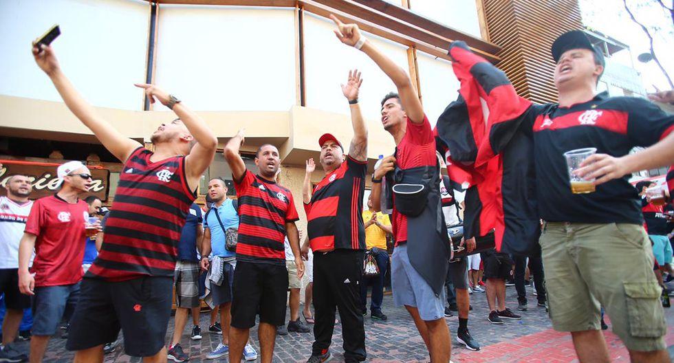 La expectación de los aficionados de Flamengo y River Plate es máxima y crece en intensidad. (Foto: Hugo Curotto / GEC)