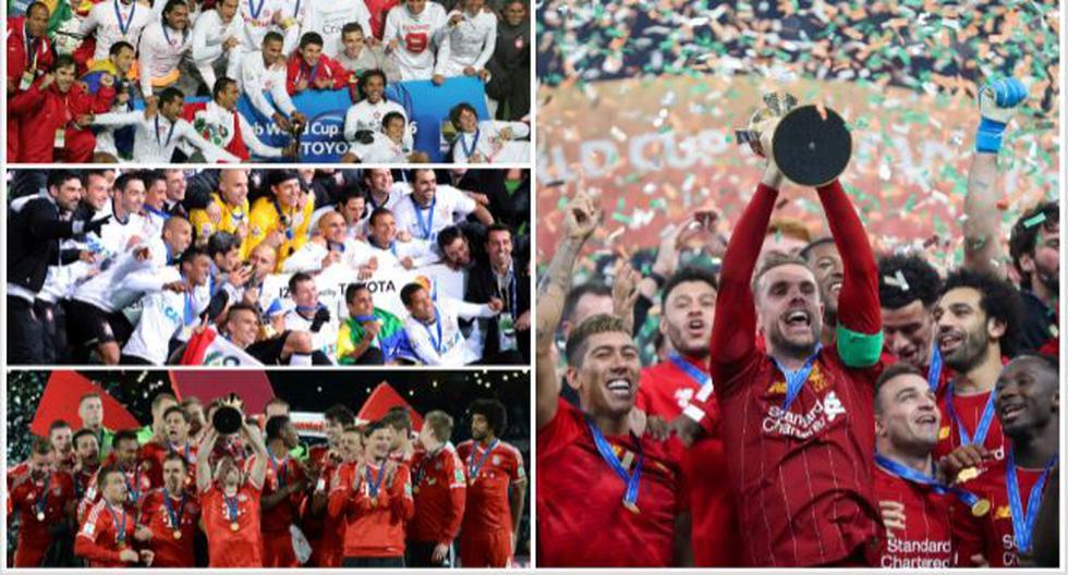 Los 16 campeones del Mundial de Clubes en la historia