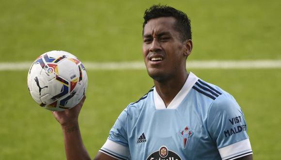 Renato Tapia se perderá el siguiente partido de Celta de Vigo en LaLiga. (Foto: AFP)