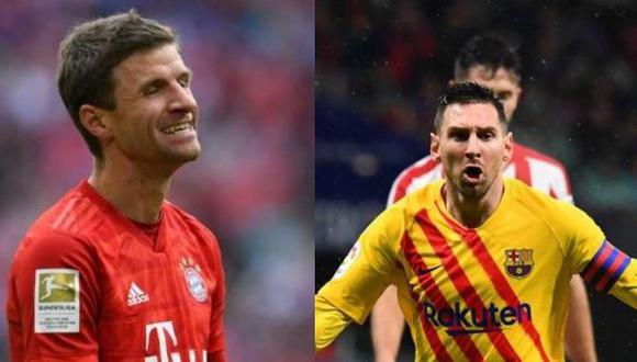 Thomas Müller lamentó la ausencia de Lionel Messi en Barcelona. (Foto: AFP)