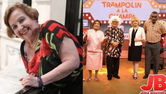 """Violeta Ferreyros sobre sketch de 'Trampolín a la Champa' de """"JB en ATV"""". (Foto: @violeta_ferreyros/@jbjorgebenavides)"""