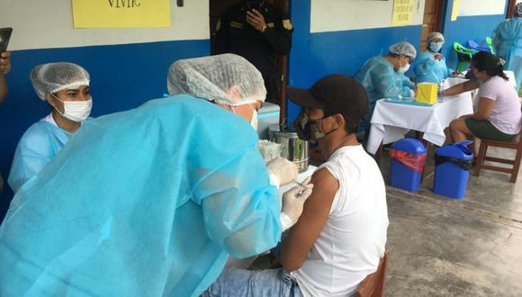 En San Martín el avance de la vacunación contra el COVID-19 es de un 59%. (Foto: Diresa)