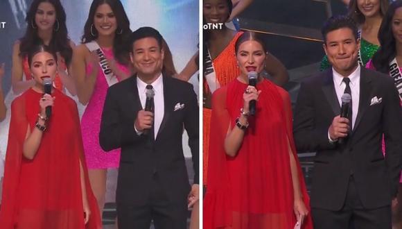 Mario Lopez y Olivia Culpo fueron los presentadores del Miss Universo 2021. (Foto: Captura TNT).
