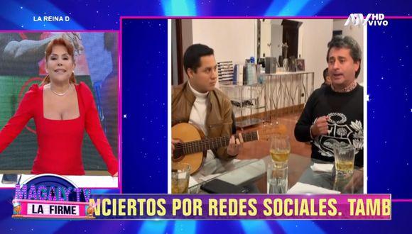 Magaly Medina se pronuncia tras reunión amical que tuvo su esposo en tiempos de cuarentena. (Foto: Captura ATV)