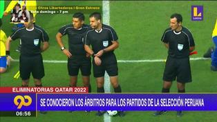 Se conocieron los árbitros para la fecha triple de la selección peruana en octubre