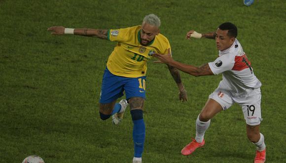 La selección peruana perdió 4-0 ante Brasil y así quedó la tabla de posiciones del grupo B de la Copa América(Photo by CARL DE SOUZA / AFP)