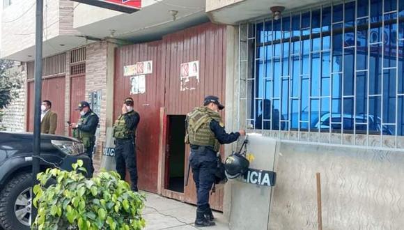 La Policía y la Fiscalía allanó 19 viviendas en la región La Libertad. (Foto: Ministerio Público)