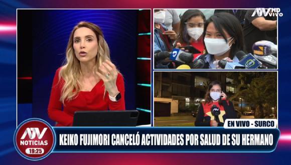 Juliana Oxenford señaló que le parece un circo que Kenji Fujimori diera positivo a COVID-19 y Keiko Fujimori fuese a la clínica a conocer sobre su enfermedad.  (Captura ATV)