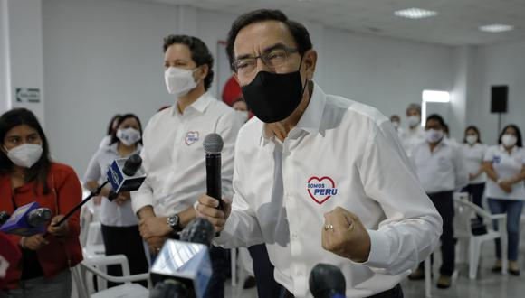 Martín Vizcarra reconoció que la gente se le acerca pese a las restricciones por el nuevo coronavirus durante eventos de campaña. (Foto: Miguel Yovera/El Comercio)