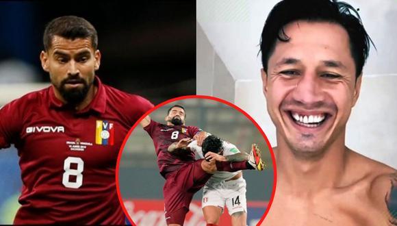 Gianluca Lapadula mostró cómo quedaron sus dientes luego de recibir rodillazo por parte del capitán de la 'Vinotinto'. Foto: Composición